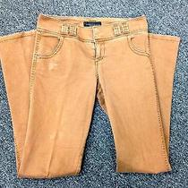 Sanctuary Brown Cotton Flat Front Wide Leg 4 Pocket Casual Pants Sz 26 J599 Photo