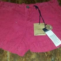 Sanctuary Clothing 100% Linen Wayfarer Garment Dyed Casual Shorts 26 Nwt72 Sale Photo