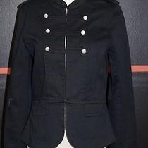 Sanctuary Clothing Black Military Style Coat/blazer Silver Hardware Sz. Lg 7856 Photo