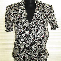 Sanctuary Clothing Cotton Ruffled Floral Top Size M  Photo