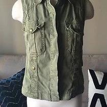 Sanctuary Clothing Los Angeles Cargo Vest Shopbop Medium Woman's Top 159 Euc Photo