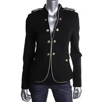 Sanctuary Clothing New Black Pone Double-Breasted Blazer Jacket M Bhfo Photo