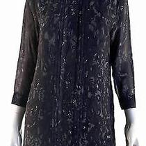 Sanctuary Clothing New Womens M Silky Blouse Top Button-Down Henley Chop 5mb1z1 Photo