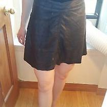 Sanctuary Leather Skirt Soft Circle Fluted Vegan Xs Photo