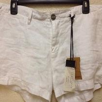 Sanctuary Shorts Womens Size 31 Nwt White Summer Los Angeles 100% Linen Photo