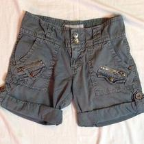 Sanctuary Surplus Cargo Mini Shorts  Adjustable Hems  Women's Size 25 Photo