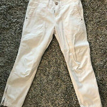 Sanctuary White Pant With Zipper Ankles Size 26 Photo