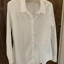 Sanctuary White Women's Blouse Size  Medium Ties on Cuff Back Detail Photo