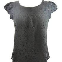 Sanctuary Women Black Cap Sleeve Lace Crochet Layered Blouse Top Shirt Size Xs Photo