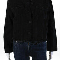 Sanctuary Women's Button Closure Denim Jacket Cotton Black Size Medium Photo