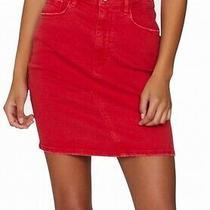 Sanctuary Women's Denim Skirt Poppy Red Size 32 Mini Pockets Seamed 89 277 Photo