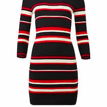 Sanctuary Women's Dress Red Black Size Large L Sweater Striped 139- 220 Photo