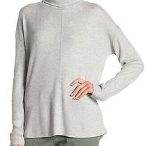 Sanctuary Women's Gray Size Large L Mockneck Waffle Thermal Sweater 59 010 Photo