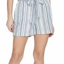 Sanctuary Women's Shorts Blue Size Xs Paperbag Striped Tie Waist Cotton 79 318 Photo
