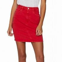 Sanctuary Women's Skirt Red Size 28 a-Line Denim Rio Stretch Mini 89 100 Photo