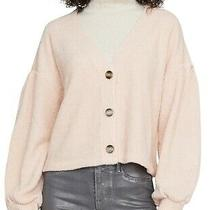Sanctuary Women's Sweater Blush Pink Size Xs Button Front Cardigan 79 600 Photo