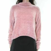 Sanctuary Women Sweater Blush Pink Size Xl Rib Knit Pullover Mock Neck 79- 789 Photo