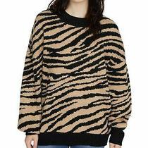 Sanctuary Womens Black Animal Print Long Sleeve Sweater Size Xs Photo