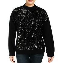 Sanctuary Womens Black Knit Sequined Velvet Sweatshirt Top S Bhfo 0185 Photo