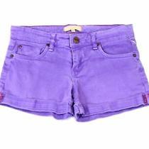 Sanctuary Womens Denim Shorts Purple Size 25 Mid-Rise Rolled Cuff 69- 623 Photo