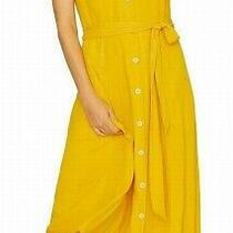 Sanctuary Womens Dress Classic Yellow Size Xl Maxi Belted Button Down 139- 054 Photo