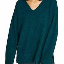Sanctuary Womens Sweaters Green Size Small S v-Neck Pullover Slit 79 723 Photo