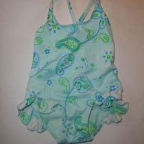 Sand & Sun 18 M Toddler One Piece Swim Suit Aqua Photo