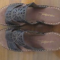 Sandals 8.5 Natural Soul by Naturalizer- Black- Like New- Ship. Includ. Photo