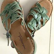 Sandals Naturalizer Soul Women's Sz 6 M Comfort Open Toe Buckle Green Cushioned Photo