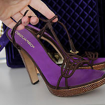 Sandals on Heels  Dsquared Violet/brown Python 39 Photo