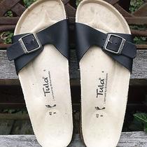 Sandals Tula by Birkenstock Black Birkies Size 9 Like New Photo