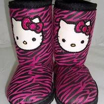 Sanrio Hello Kitty Boots Size 6 Baby Girl Pink Zebra Photo