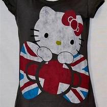Sanrio Hello Kitty British Flag Bow Juniors Gray Size M Photo