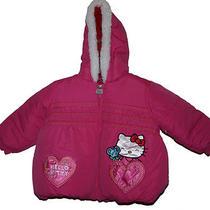 Sanrio Hello Kitty Faux Fur Hooded Winter Jacket Winter Coat Size 4t Msp 75 Photo