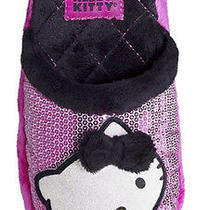 Sanrio Hello Kitty Girl Slippers Girl Size Medium 2/3 Pink Cushioned Insole Photo