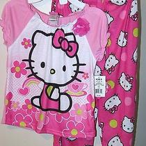 Sanrio Hello Kitty Girls 8 New Nwt Pink 2 Pc Piece Pajama Set Pj's Sleepwear 32 Photo