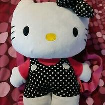 Sanrio Hello Kitty Plush Backpack Toy Bag Adjustable Straps 2012 Large 10