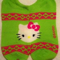 Sanrio Hello Kitty Sock Funny Casual No-Show Low-Cut Ankle Green Pink Women 4-10 Photo