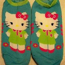 Sanrio Hello Kitty Sock Women Blue Pink 4-10 Funny Casual No-Show Low-Cut Ankle Photo