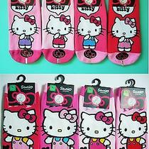 Sanrio Hello Kitty Teen Ankle Socks - 2 Different Pairs/ 8.5