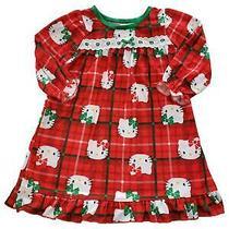 Sanrio Infant Toddler Girls Hello Kitty Ruffle Nightgown Sleep Dress Pajama Photo