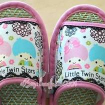 Sanrio Little Twin Stars Bamboo Tatami Slipper Home Bedroom Audlt Shoes 2224cm Photo