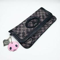 Sanrio Rare 2008 Kuromi Checkered Punk Kawaii Clutch Purse Bag Photo