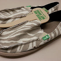 Sanuk Womens Sidewalk Surfer i'm Game Zebra Natural Swf1057 Znat Size 9 Photo