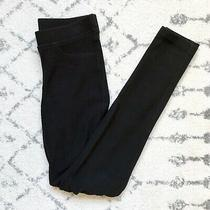 Sara Campbell Black Ribbed Stretch Comfortable Leggings Women's Size Xs 168 Photo