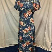 Sara Campbell Blue Floral Dress Size 6 Photo