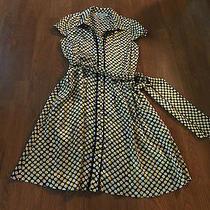 Sara Campbell Dress Black Yellow Polka Dot Silk Rockabilly Sz 10 Boutique  Photo