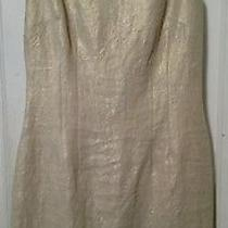 Sara Campbell Gold Pleat Dress Size 6 New With Tags Photo