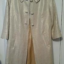 Sara Campbell Gold Pleat Jacket/coat Size 4 Nwt Photo