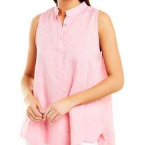 Sara Campbell Linen Shirt Women's Pink Xs Photo